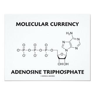 Molecular Currency Adenosine Triphosphate 4.25x5.5 Paper Invitation Card