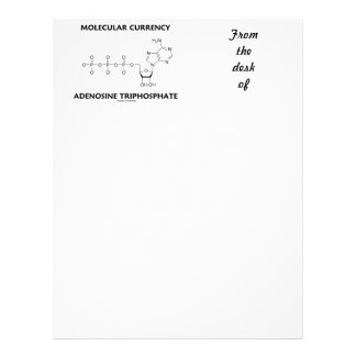 Molecular Currency Adenosine Triphosphate (ATP) Letterhead