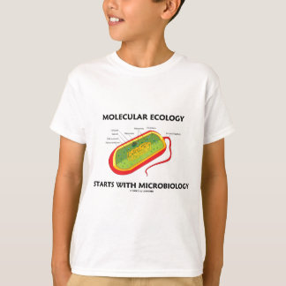 Molecular Ecology Starts With Microbiology T-Shirt