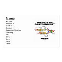 Molecular Gastronomist Inside (DNA Replication) Double-Sided Standard Business Cards (Pack Of 100)