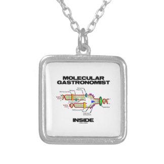Molecular Gastronomist Inside (DNA Replication) Square Pendant Necklace