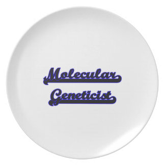 Molecular Geneticist Classic Job Design Party Plates
