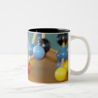 Molecular model Two-Tone coffee mug