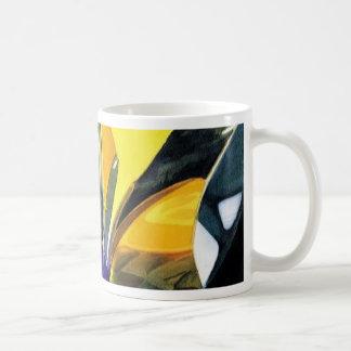 """Molecular Mosaic"" Art Glass Watercolor Classic White Coffee Mug"