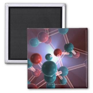 Molecular Structure of Caffeine. Magnet