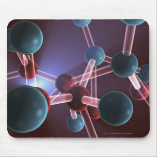Molecular structure of caffeine mouse pad