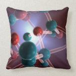 Molecular Structure of Caffeine. Pillow