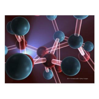 Molecular structure of caffeine postcard