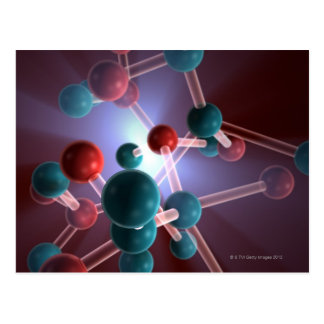 Molecular Structure of Caffeine. Postcard