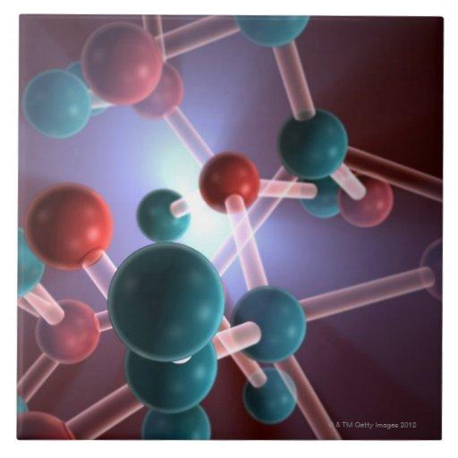 Molecular Structure of Caffeine. Tile