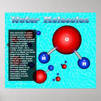 Moléculas de agua póster