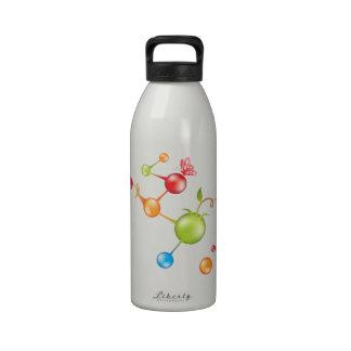 Moléculas de la vida botellas de beber