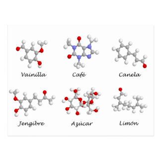 Moleculas de Sabor Postcard
