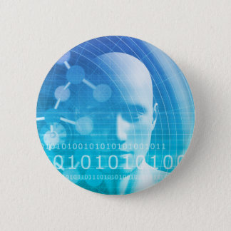 Molecule Background as a Science Abstract Concept Pinback Button