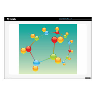 "Molecule Vector glossy Decal For 17"" Laptop"