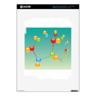 Molecule Vector glossy Decals For iPad 3