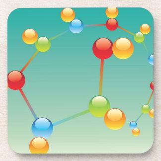 Molecule Vector glossy Drink Coaster