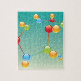Molecule Vector glossy Jigsaw Puzzle