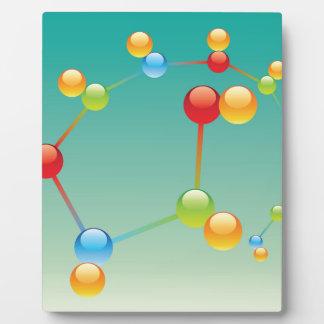 Molecule Vector glossy Plaque