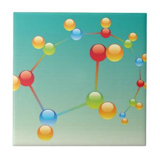 Molecule Vector glossy Tile