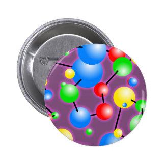 Molecule Wallpaper Pinback Button