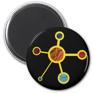 Molecule with Texture 2 Inch Round Magnet