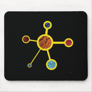 Molecule with Texture Mouse Pad