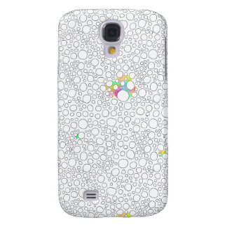 Molecules cells circles fun patterned painting galaxy s4 case
