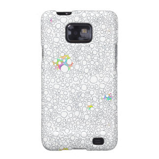 Molecules cells circles fun patterned painting galaxy s2 covers