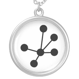 Molecules Silver Plated Necklace