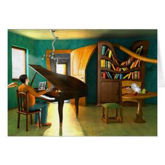 Molestar al pianista tarjeta