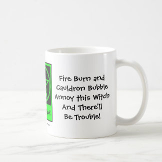 ¡Moleste a esta bruja y habrá problema! Taza/taza Taza De Café
