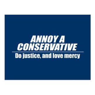 Moleste a un conservador - haga la justicia postales