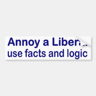 Moleste a un liberal etiqueta de parachoque