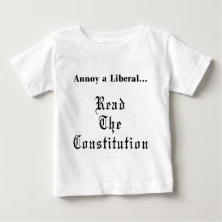 Moleste a un liberal - lea el Constitution.png Playera De Bebé