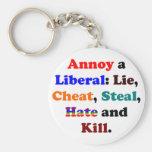 Moleste a un liberal llavero