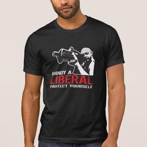 Moleste a un liberal, protéjase camiseta