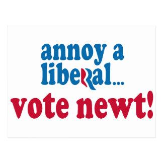 Moleste a un liberal tarjetas postales