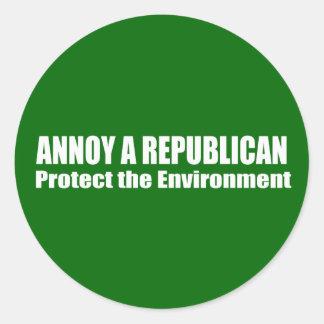 Moleste una reserva del republicano el ambiente pegatinas redondas