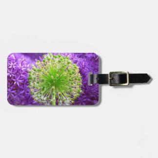 Molestia de la flor etiqueta de maleta