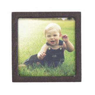 Molestia de la imagen del bebé caja de recuerdo de calidad