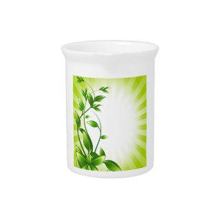 Molestia de la planta verde jarrones