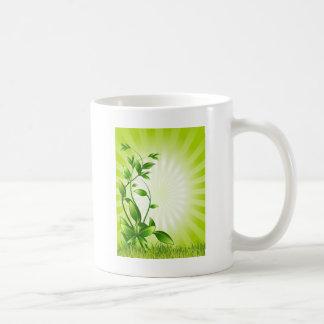 Molestia de la planta verde taza de café