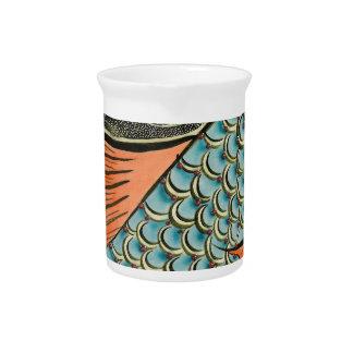 Molestia de los pescados del mosaico jarras de beber