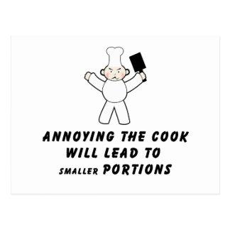 Molestia del cocinero tarjeta postal