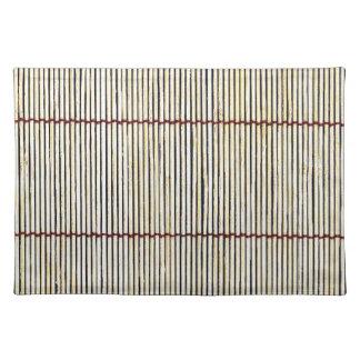 molestia natural de madera del estilo de la textur mantel individual