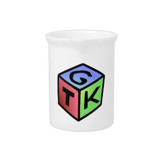 Molestia verde roja del cubo jarra para bebida