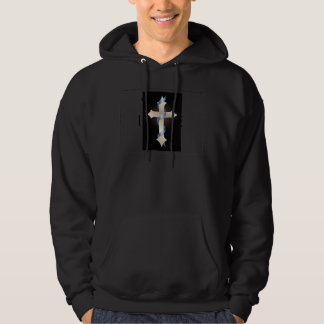 Moletom with Basic Pointed hood Cross of Silver Hoodie