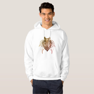 Moletom with Masculine pointed hood Tribal Wolf Hoodie