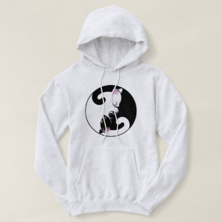 """Moletom with Pointed hood """"Cat black White """" Hoodie"""